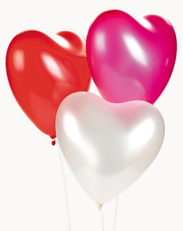Воздушный шар наполненный гелием сердце 16 дюймов