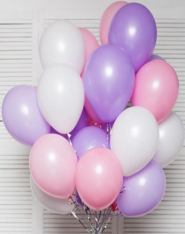 Набор из 15 воздушных шаров наполненных гелием