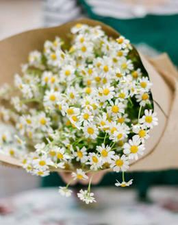 Букет цветов из танасетума