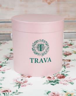 149 Коробка для цветов нежно-розовая (средняя)