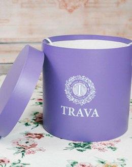 Коробка для цветов фиолетовая (средняя)