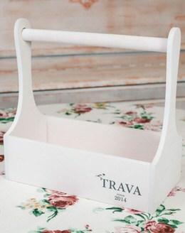 Деревянный ящик TRAVA (белый)