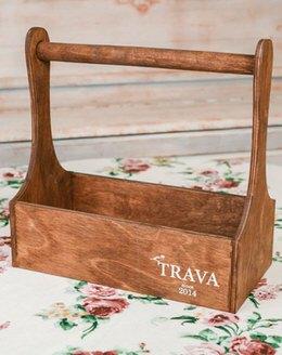 Деревянный ящик TRAVA (темное дерево)
