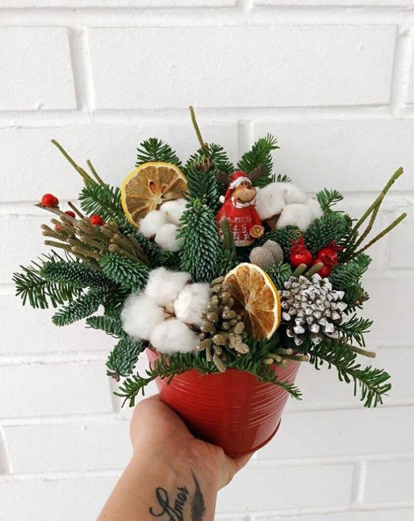"""Композиции 3536 """"Новогодняя с Дедом Морозом"""""""